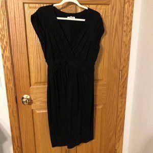Black cross front jersey dress, 1X